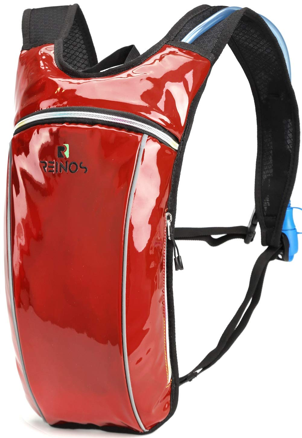Hydration Backpack - Light Water Pack - 2L Water Bladder Included for Running, Hiking, Biking, Festivals, Raves (Red)