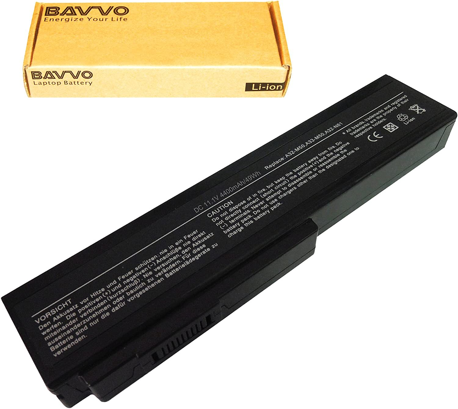 Bavvo Battery Compatible with ASUS A32-M50 A32-N61 A33-M50 A32-X64 L072051 15G10N373830 15G10N373800 90-NED1B2100Y?