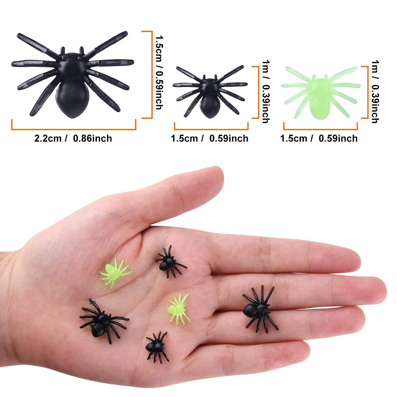 TUPARKA 300pcs Mini arañas de plástico de araña realistas ...