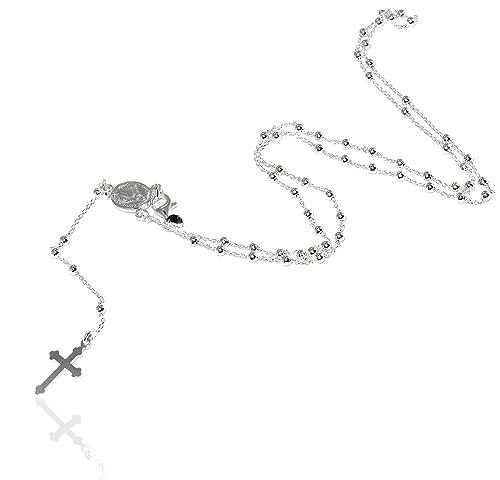 scarpe sportive 5d767 e42f4 Collana rosario uomo o donna in Argento 925 palline 2,5 mm ...