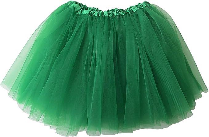Kelly Green Tutu//Dance Tutu//Recital Tutu//Play 7 Long Tutu with 3 Layers of Tulle