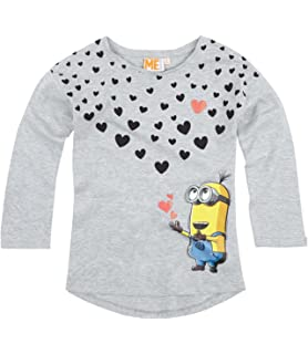 b00c1c2a352 Minions Despicable Me Girls Leggings 2016 Collection - grey: Amazon ...