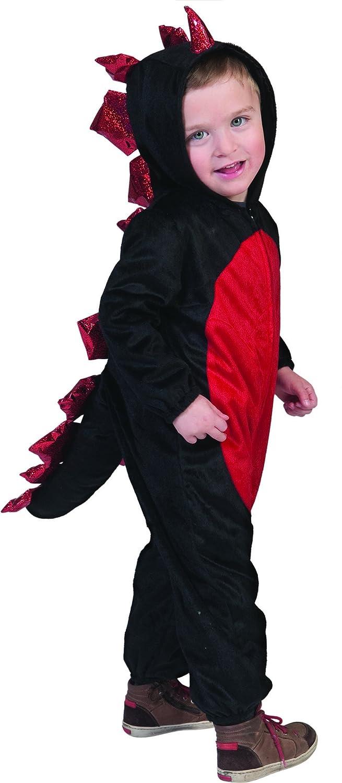 Carnevale Bud – Bambini Toddler Costume da drago – Jumpsuit Tuta Con Cappuccio Outdoor adatto, 86 – 128, 1 – 8 anni, Multicolore
