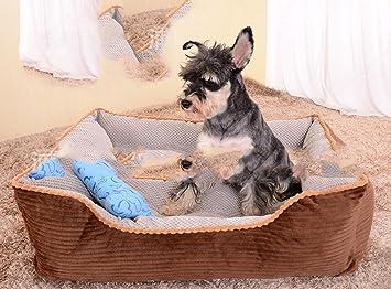 WXX Full extraíble Invierno perro, mediano y grande de caseta perro Pet small marrón: Amazon.es: Hogar