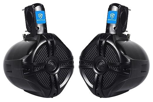 """Review Pair Rockville RWB65B 6.5"""" Black 2 Way 250 Watt Marine Wakeboard Tower Speakers"""