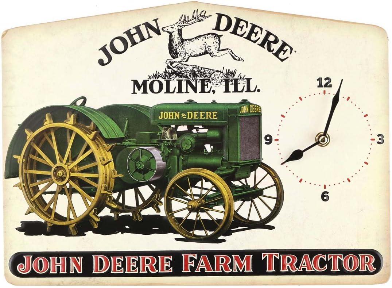 John Deere Vintage Tractor Clock