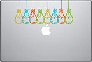 Laptop Notebook Sticker Decal - Light Bulbs Colorful Funny Inspirational Helpful - Skins Stickers
