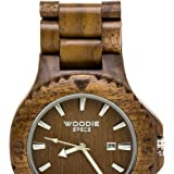 Handmade Mens Solid Wood Watch Made with 100% Natural Walnut Wood