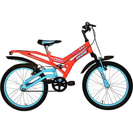 7e42a0f7bbb Buy Avon Boy's Steel Epic 20T Cycle (Florescent Orange/Sky Blue,  09BCCBKDAV106779) Online at Low Prices in India - Amazon.in