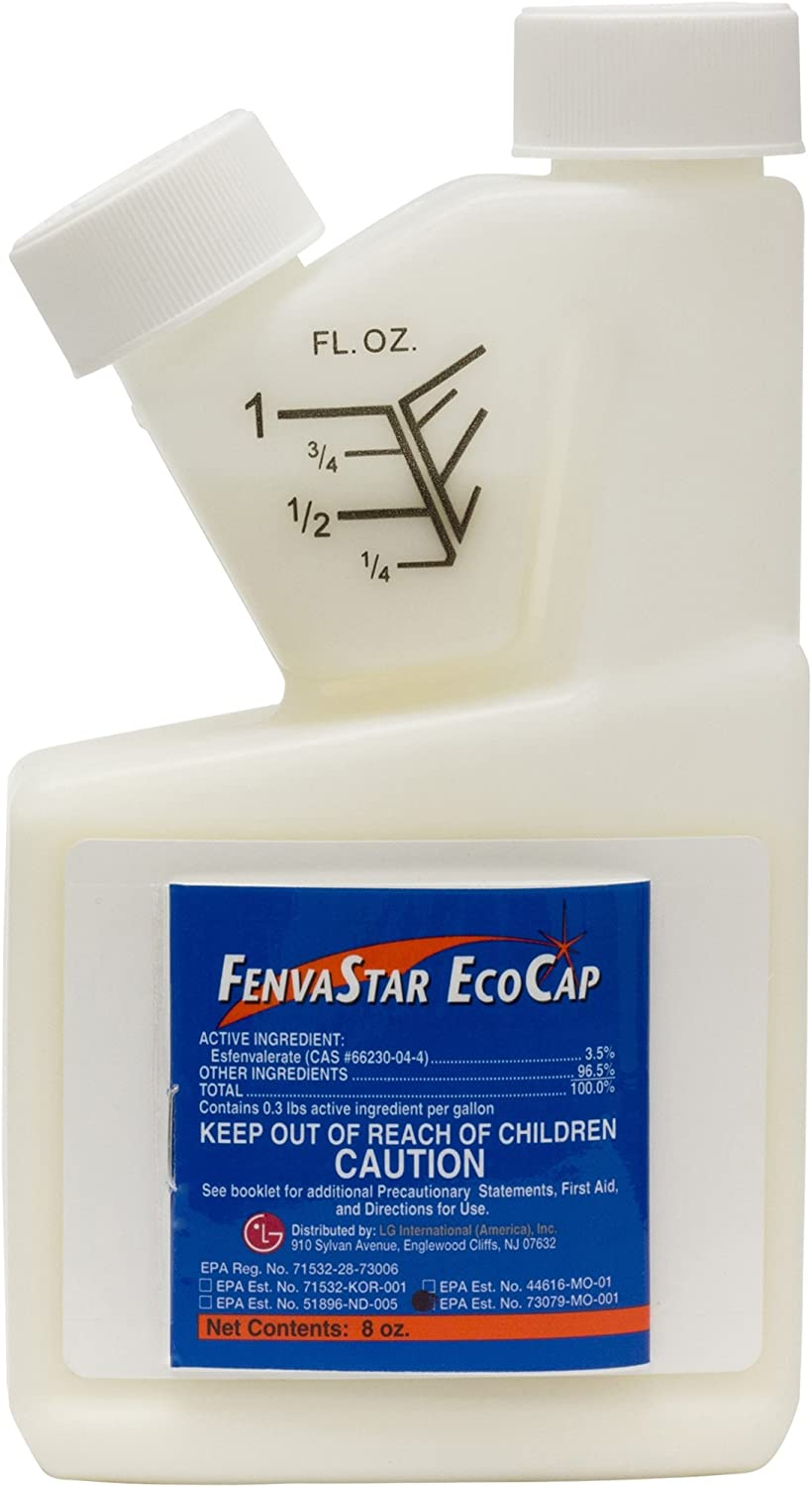 FenvaStar EcoCap - 8 oz.-Bed Bugs,carpenter Bees,Stink Bug,ants,spiders,Professional Pest Control Product