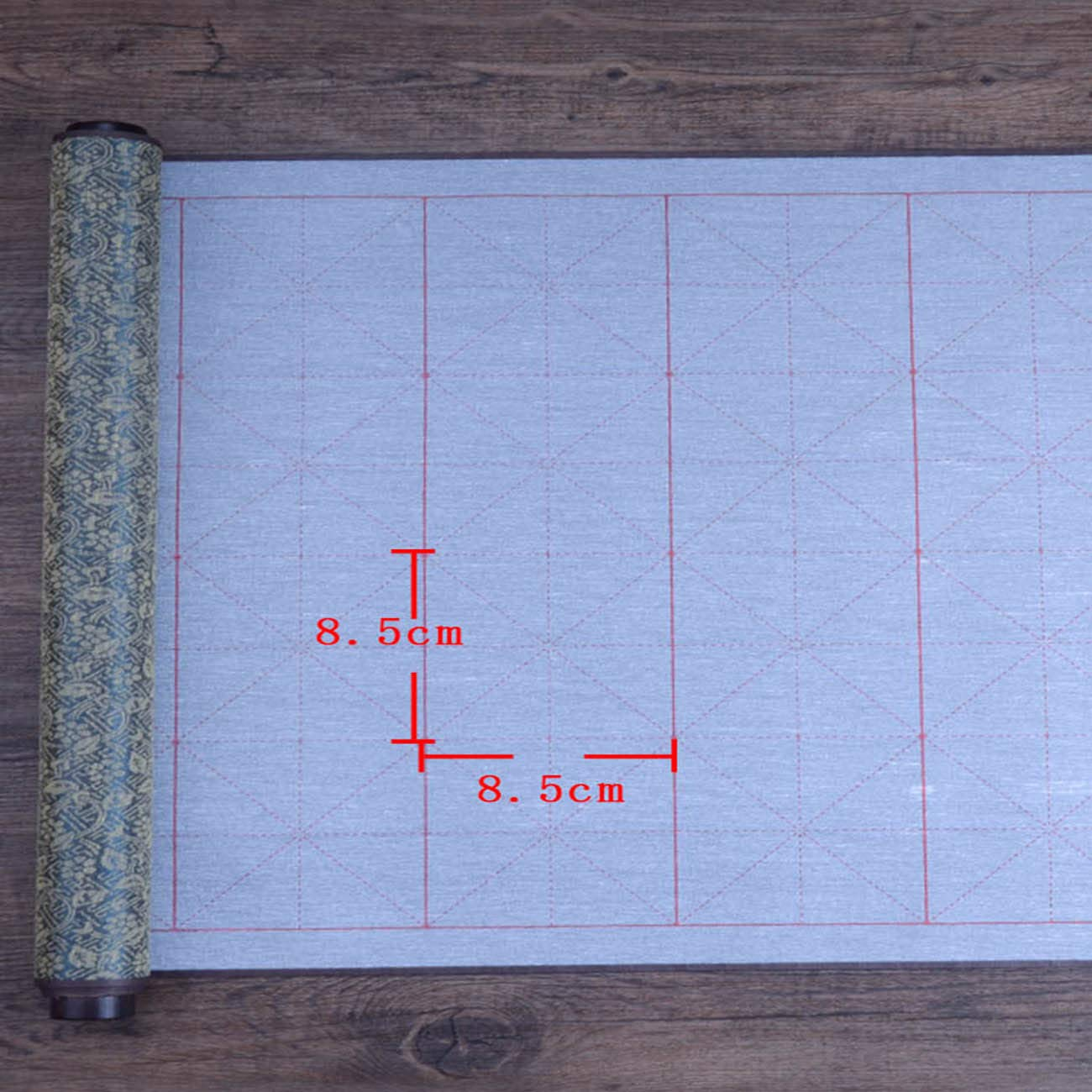 Tianjintang Eco-Friendly Chinese Calligraphy No Ink Needed Embroidery Water Writing Magic Scroll with Grids Squares for Calligraphy Learner 80cmx38cm