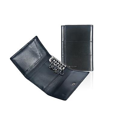 75b8c6e3c10 Ikepod Tri-fold Key Wallet Holder  Full-grain Leather  6 Hooks   2 ...