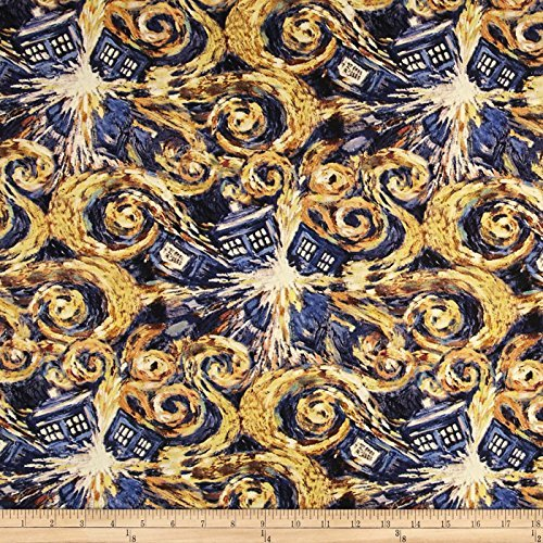 Springs Creative Products BBC Doctor Who Exploding Tardis Multi Fabric by The Yard -