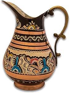إبريق مزخرف للعصائر من النحاس التركي ، صناعة يدوية