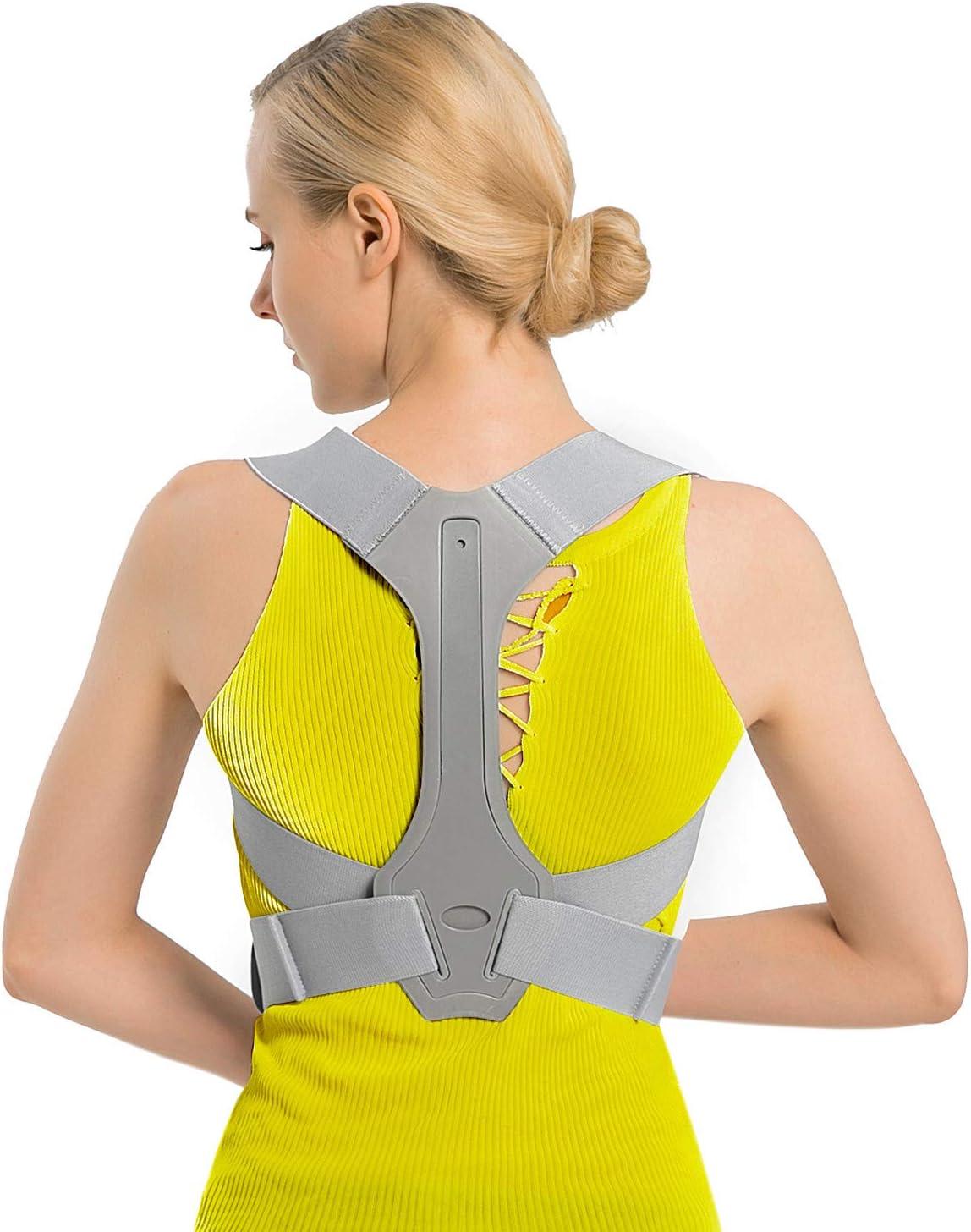TURATA Corrector Postura Espalda y Hombros, Hombro Ajustable Profesional y Respaldo de La Médula Espinal Soporte, Prevención y Mejora de Las Jorobas, Alivia el Dolor de Espalda, Hombro y Cuello