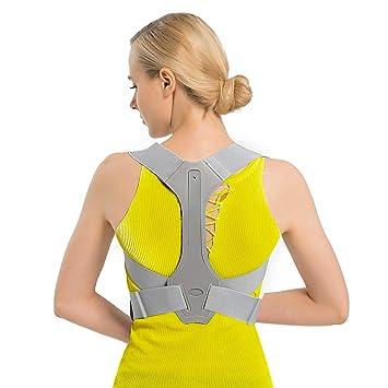 TURATA Corrector Postura Espalda y Hombros, Hombro Ajustable Profesional y Respaldo de La Médula Espinal Soporte, Prevención y Mejora de Las Jorobas, ...