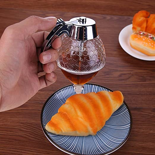 Amazon.com: Whitelotous 200ML Honey Syrup Dispenser No Drip Acrylic Juice Jar Paste Separator Storage Pot: Kitchen & Dining
