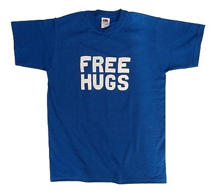 66c57fef Free Hugs Funny Men's or Unisex Cotton T Shirt: Amazon.co.uk: Clothing