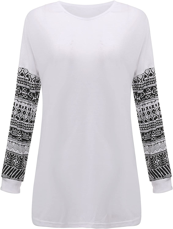 Zanzea Tops Femme Chic T Shirts Manche Longue Pull Pas Cher Haut Blouse Casual Grande Taille