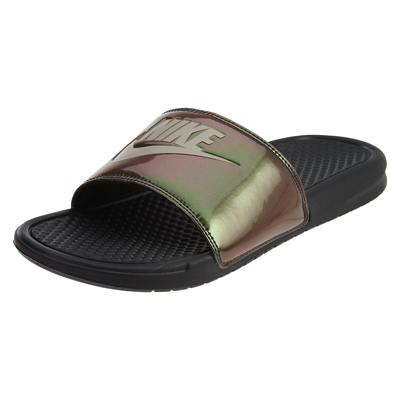 brand new c6d25 6abb5 Amazon.com  Nike 631261-003  Mens Benassi Just Do It-Print Slide Sandals  (12 M US) BlackMetallic Gold  Sandals