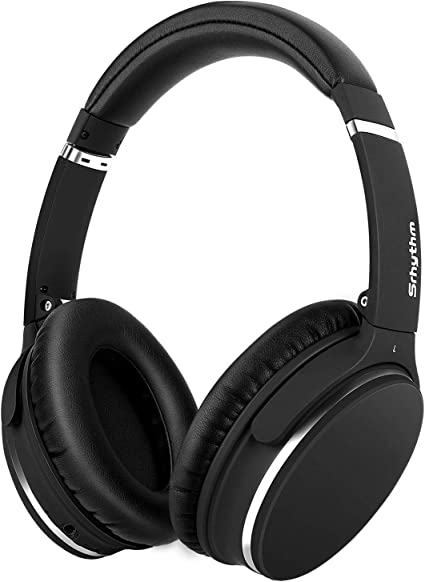 Casque Bluetooth sans Fil à Réduction de Bruit Active, Casque Audio Stéréo  HD Plug and Play avec 16H / Basse Profonde/Double Capteur 40mm / Micro  Intégré, Srhythm Version NC-25 (Mat-Noir): Amazon.fr: High-tech