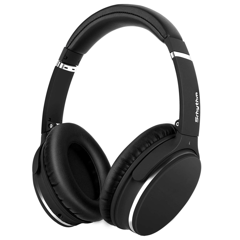 Auriculares Noise Cancelling Real Over-ear Inalambrico Liviano Srhythm Durable Plegable Deep Bass Hi-fi Stereo Bluetooth