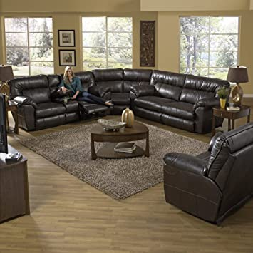 Catnapper Nolan Leather Reclining Sectional - : amazon leather sectional - Sectionals, Sofas & Couches