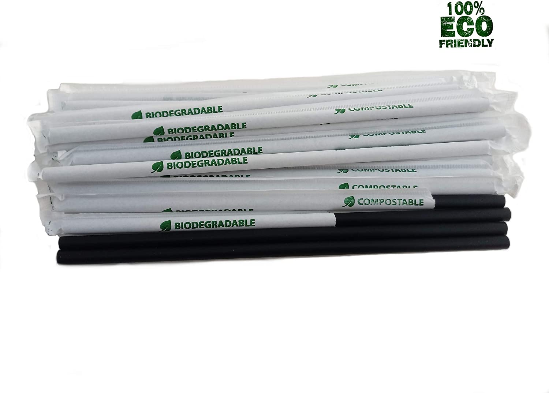 CWPACK - Pajitas biodegradables (250 x 8 mm, 3500 Unidades, Papel ...