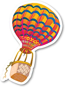 """Hot Air Balloon Sticker Interesting Stickers - 2 Pack - Laptop Stickers - 2.5"""" Vinyl Decal - Laptop, Phone, Tablet Vinyl Decal Sticker (2 Pack) S82327"""