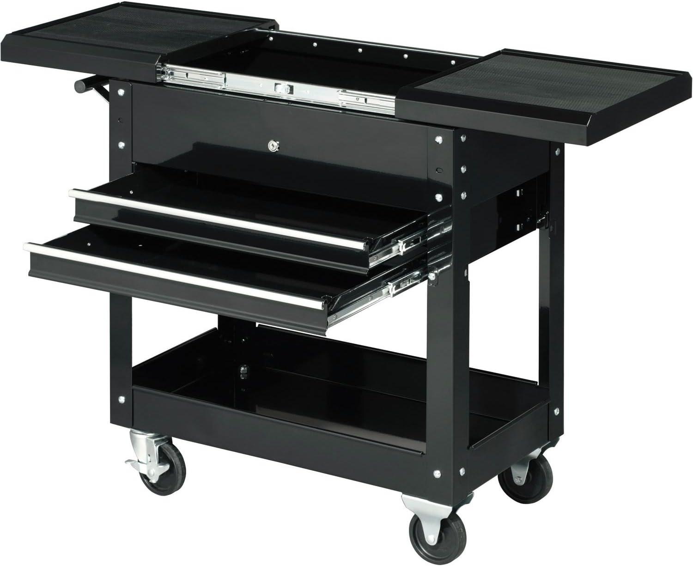 27 2-Drawer Tool Cart W Sliding Top