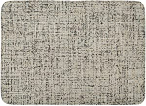 """Emvency Bath Mat Gray Carpet Beige Canvas Speckled with Broken Lines Abstract Black Cardboard White Dashes Bathroom Decor Rug 16"""" x 24"""""""
