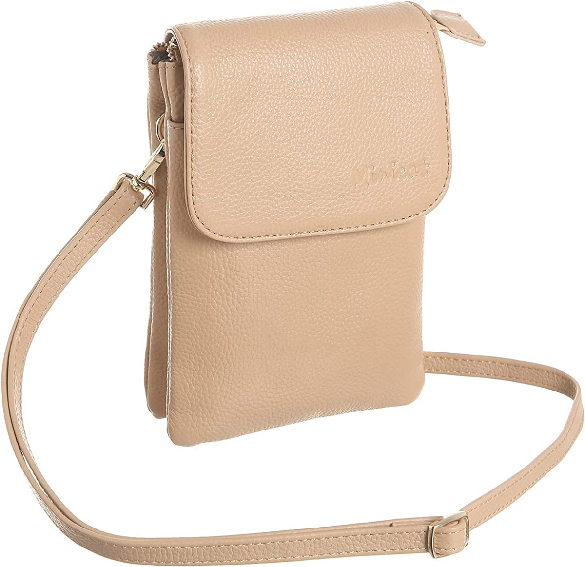 MINICAT Leather Small Crossbody Bags RFID Blocking Cell Phone Purse Wallet for Women