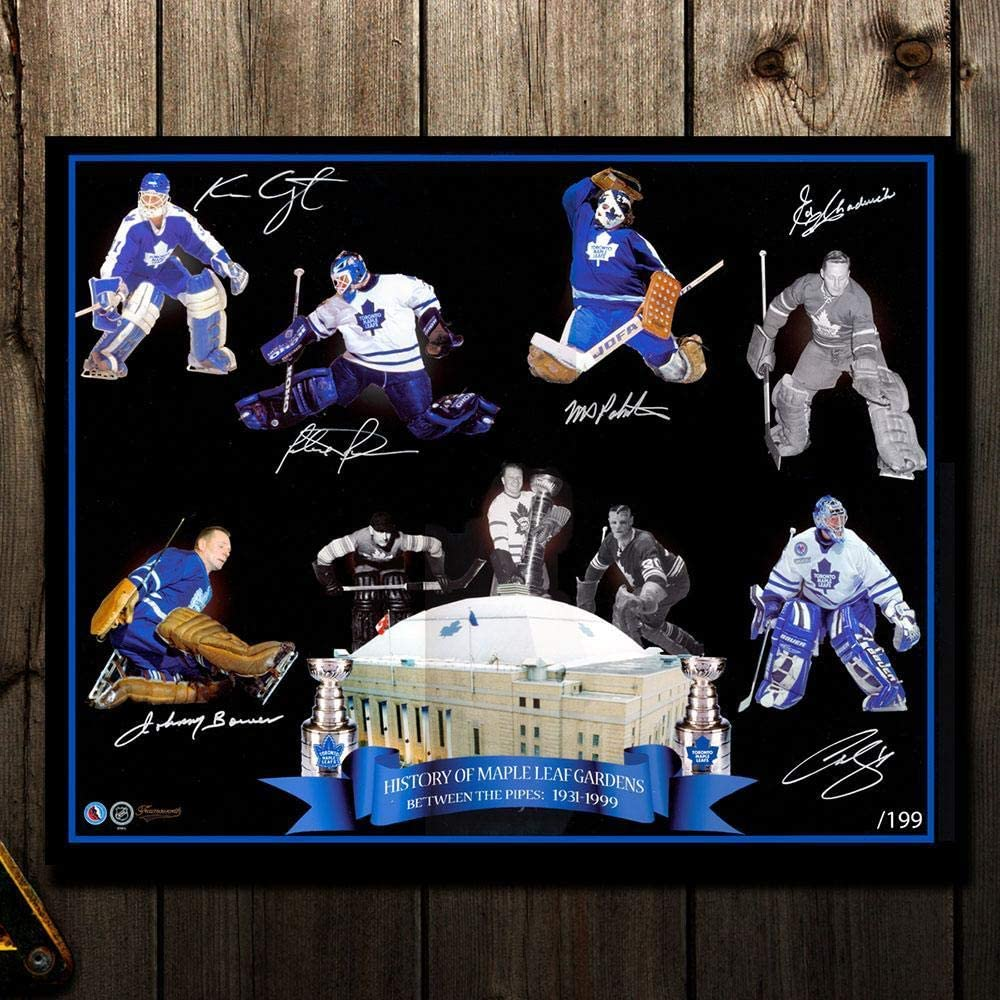 Between The Pipes Toronto Maple Leafs Goalie Greats Limited Edition Autographed 16x20 Autographed Nhl Photos At Amazon S Sports Collectibles Store