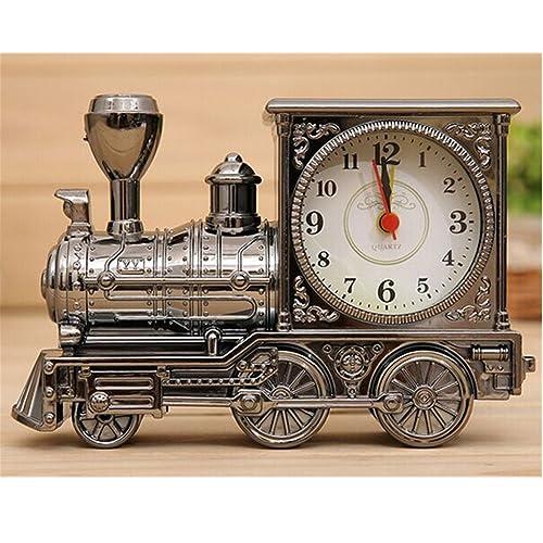 oft mini trains alarm clocks antique locomotive train quartz alarm clock for gift home dark