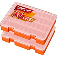 SOMELINE Sortiment lådor PP sortimentlåda stabil sorteringslåda med fast fack justerbar smyckeslåda för smycken små…
