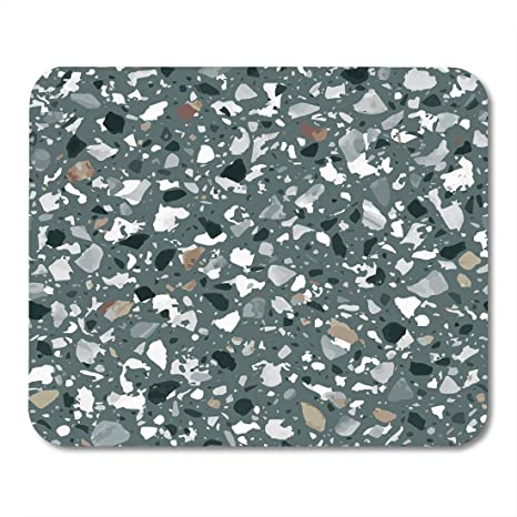 Semtomn Mouse Pad Terrazzo Flooring Of Classic Italian Floor In Venetian Composed Mousepad 9 8 X 7 9 For Notebooks Desktop Computers Mouse Mats