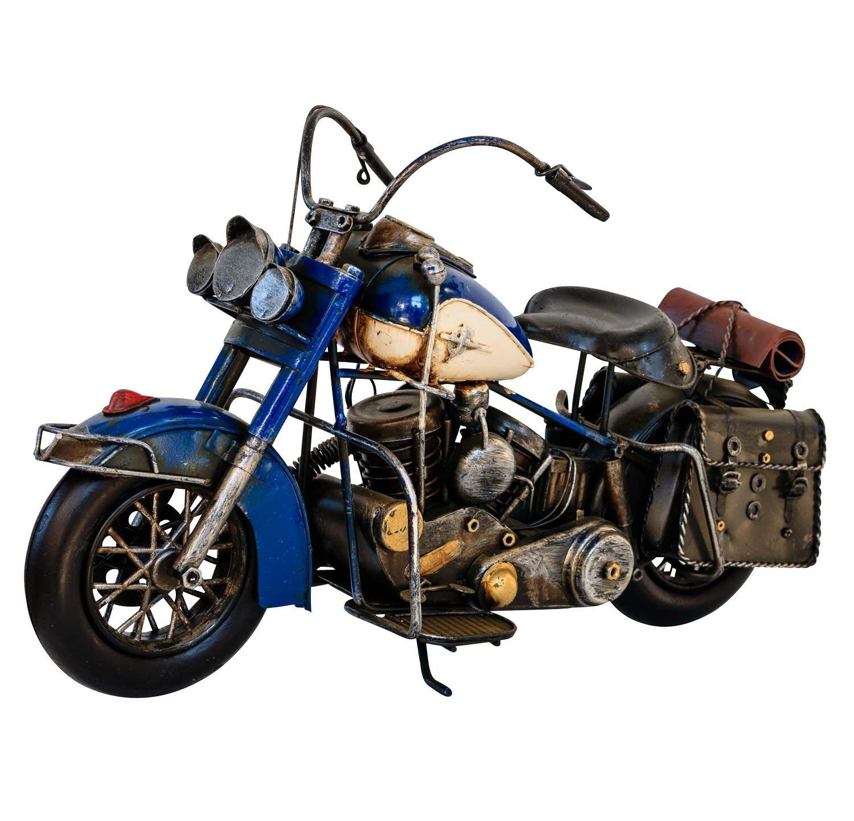 Modellmotorrad Nostalgie Blech Metall Motorrad Oldtimer Antik-Stil 43cm