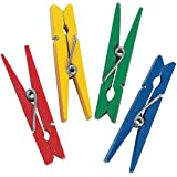 BRIGHT COLORED CLOTHESPINS (50 PIECES) - BULK