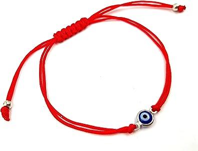 S925 Pulsera De Plata 925 Hilo Rojo Protección mal de ojo hecho a mano