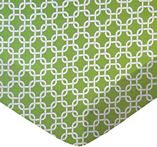 product image for SheetWorld Fitted Sheet (Fits BabyBjorn Travel Crib Light) - Citrus Links - Made In USA