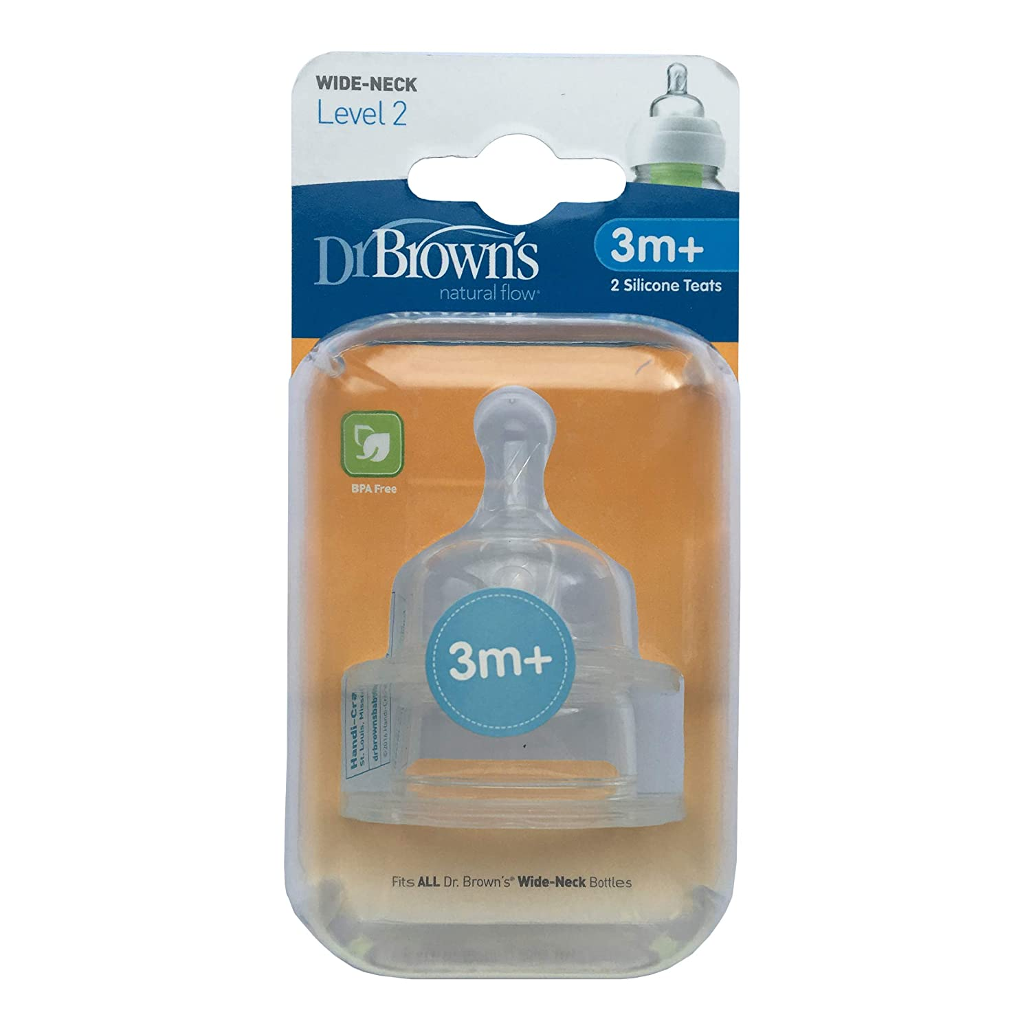 Brown/'s Original Nipple Level 2 3m Pack of 6 Dr
