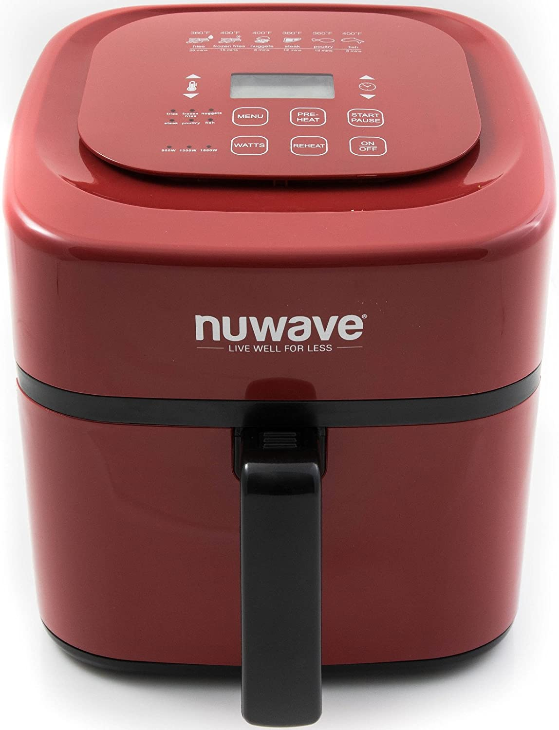 NuWave oven1016 Air Fryer oven, 6 qt Red