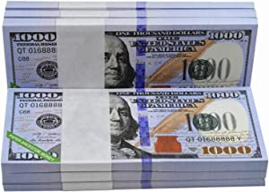 500 Pieces 1000 Dollar Bill Ancestor Money-Chinese Joss Paper Hell Money-1000 Bill Prop Money-Ancestors Money to Burn-Chinese Hell Bank Notes Money(500PCS)