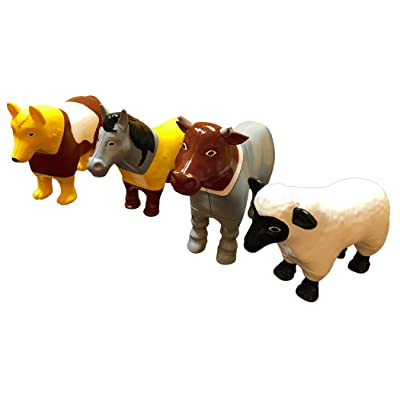 Popular Playthings Magnetic Mix or Match Farm Animals: Toys & Games