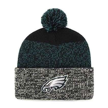 Amazon.com    47 Philadelphia Eagles Beanie Static Cuff Knit Hat   Sports    Outdoors 7028f482671