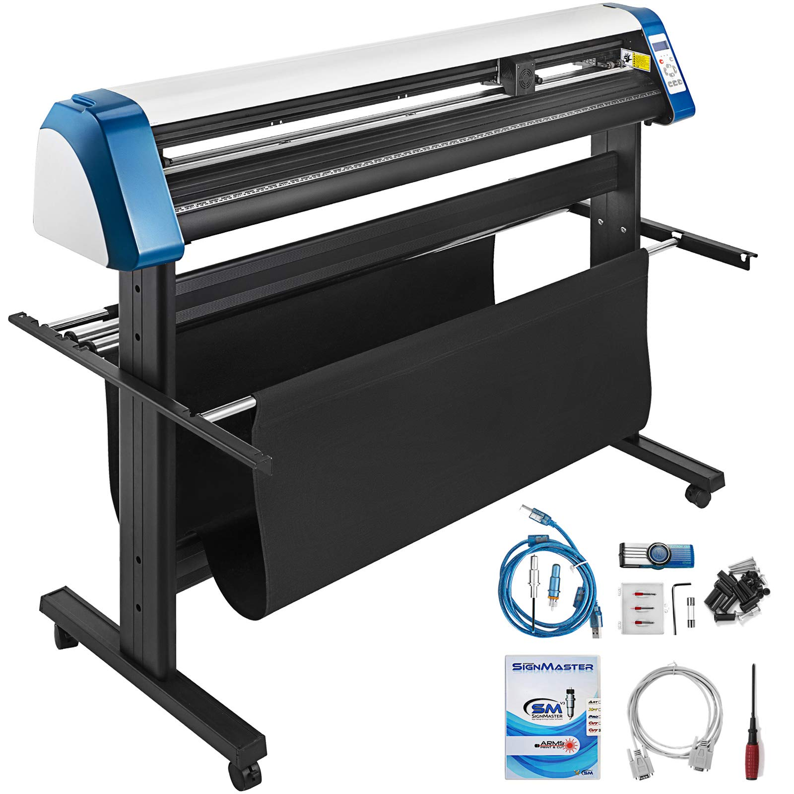 VEVOR Vinyl Cutter 53 Inch Vinyl Cutter Machine 1340mm Vinyl Printer Cutter Machine LED Fill Light Strip Vinyl Plotter Cutter Machine with Floor Stand & Signmaster Software by VEVOR