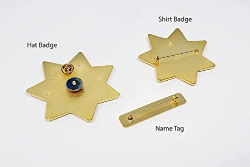 Shérif Déguisement Kit pistolet Tash Hat Badge Rick Grimes Western WALKING DEAD