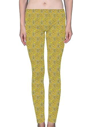 f0dff74224677 LuxSweet Lemon Juicy Fruit Women's Printed Leggings Soft Stretchy Workout  Yoga Pants Fashion Sports Pants (