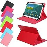 Universal Slim Tasche für verschidene Tablet Modelle Schutz Case Hülle Cover (9 / 10 Zoll, Rot)