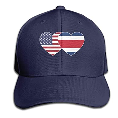 Amazon.com  Eveler Costa RICA USA Twin Flag Baseball Cap Unisex ... c6000cdd8ba